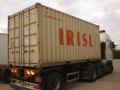 Shipping Container arrives at Abels warehouse ready for unloading