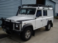 Landrover Defender cleaned and ready to be shipped